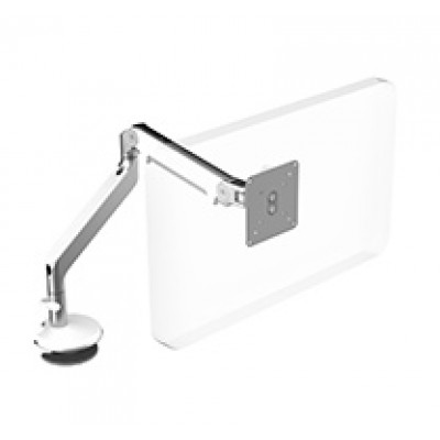 M2 Arm with Bolt-Through Mount, Polished Aluminum with White Trim
